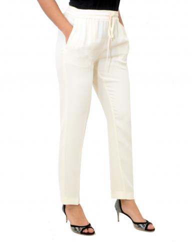 TWINSET Pantalone sigaretta AVORIO 201TP2431 00018