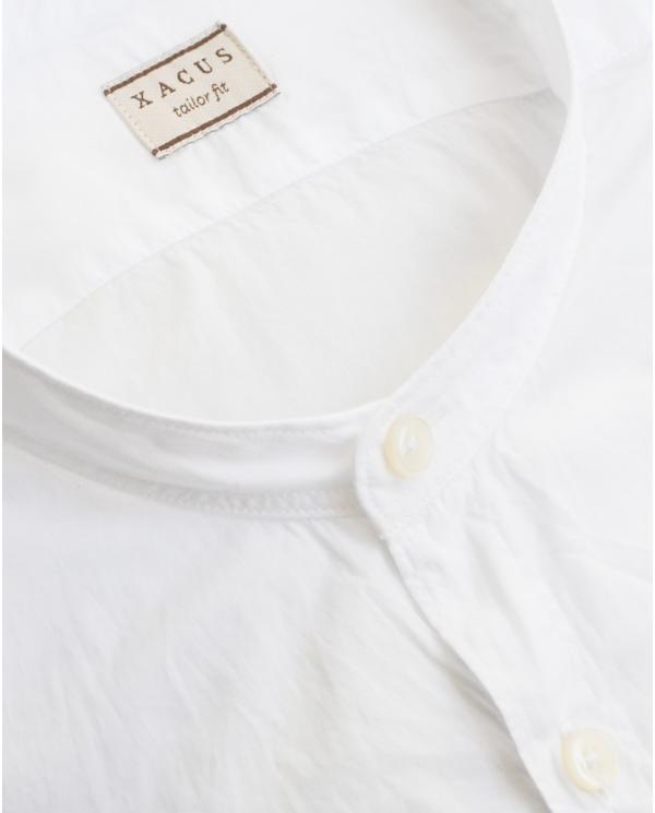XACUS Camicia collo coreana bianco 724ML.61165.001