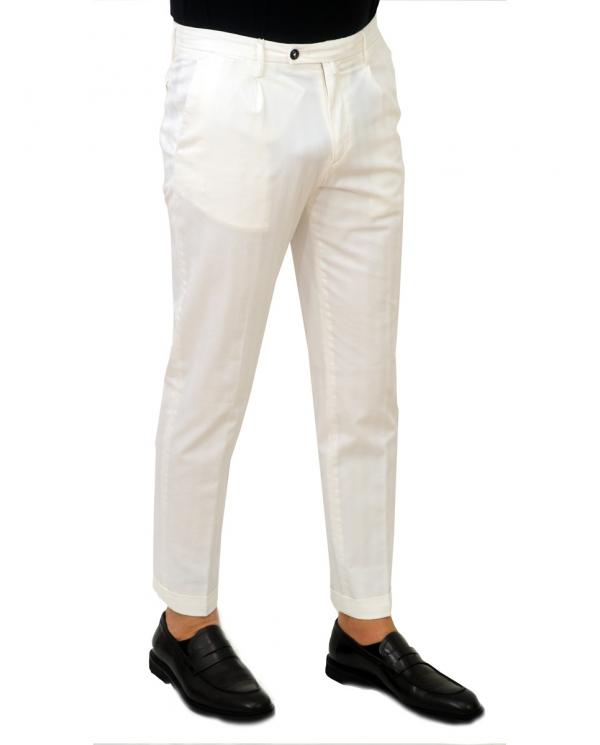 BRIGLIA Pantalone uomo bianco