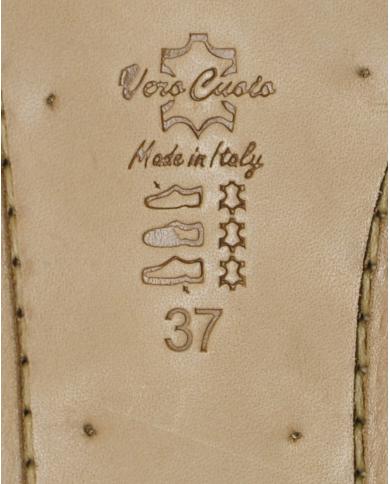 EMANUELA CARUSO Infradito pietra specchio wips oro Bronzo J26A
