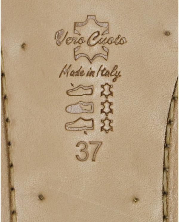 EMANUELA CARUSO Infradito pietra specchio oro Bronzo J26A
