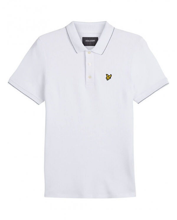 LYLE & SCOTT Waffle Polo Shirt White         SP1220V 626