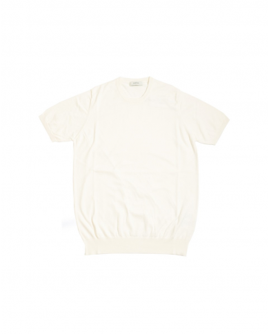 ALPHA STUDIO T-shirt in cotone basic old bianca AU-2010CS 8000