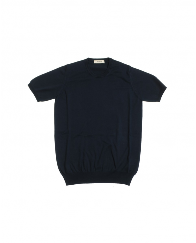 ALPHA STUDIO T-shirt in cotone basic old blu NOTTE AU-2010CS 8005