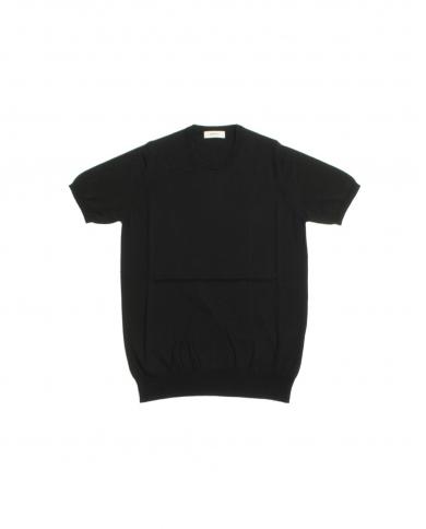 ALPHA STUDIO T-shirt in cotone basic old Nera AU-2010CS 8009