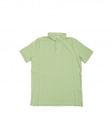 ALPHA STUDIO Polo in piquet manica corta Verde AU9432B.6126