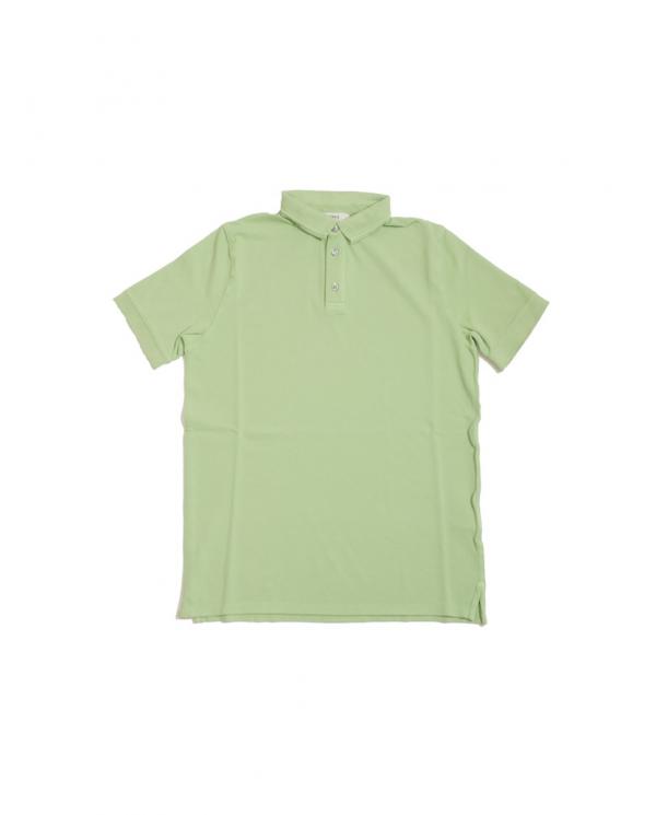ALPHA STUDIO Polo in piquet manica corta Verde AU9432B.6126