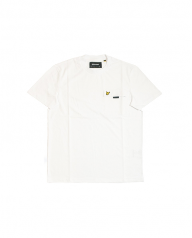 LYLE & SCOTT Chest Pocket T-shirt White         TS1236V 626