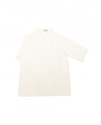 CRUCIANI Polo manica lunga bianca CU1407.BIANCO