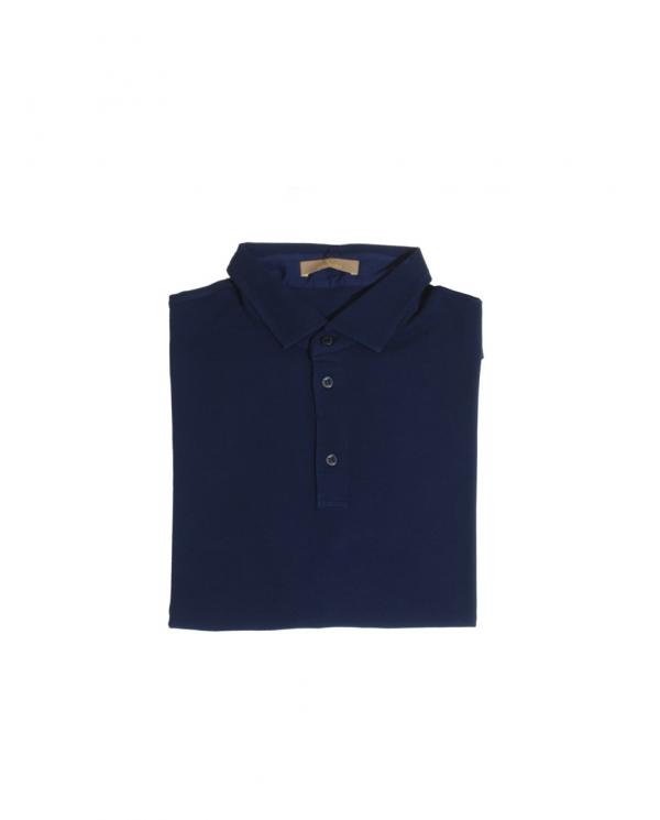 CRUCIANI Polo in piquet manica corta Bluette CU15.241.49150