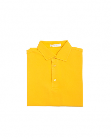 CRUCIANI Polo in piquet manica corta gialla CUJK.PC30.Z0085EF