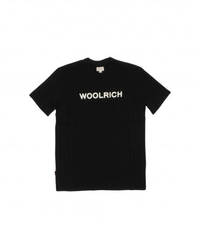 WOOLRICH T-shirt logo tee BLACK WOTE0024MRUT1486 100