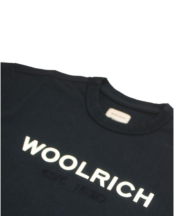 WOOLRICH T-shirt logo tee MELTON BLUE WOTE0024MRUT1486 3989