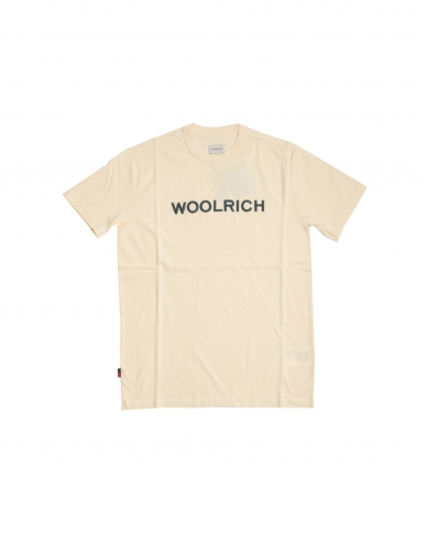 WOOLRICH T-shirt logo tee FEATHER WHITE WOTE0024MRUT1486 8929