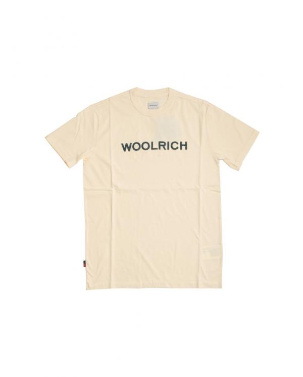 WOOLRICH T-shirt logo tee FEATHER WHITE WOTE0024MRUT1486 8929
