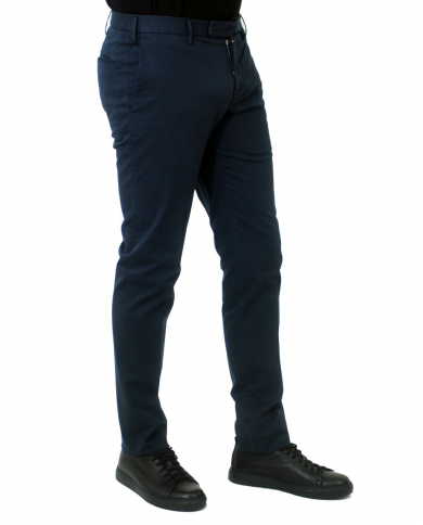 INCOTEX VENEZIA Pantalone slim fit in cotone stretch Royal Batavia Blu 1AGW30 9098Y.822