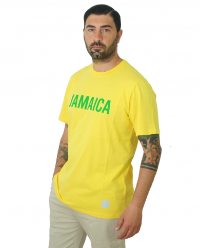 "DEPARTMENT5 T-shirt stampa ""Jamaica"" Giallo U20J08.J2001 VE022"