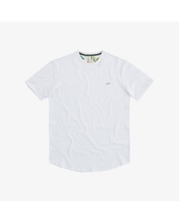 SUN 68 T-shirt round solid bianca T30108 1