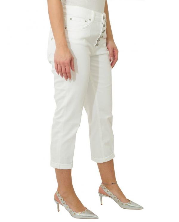 DONDUP Pantalone Benedict in cotone Bianco DP391 RSE036D PTD 000