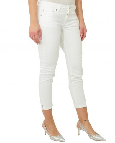 DONDUP Pantalone Newdia bianco DP405 BS0009D PTD 000