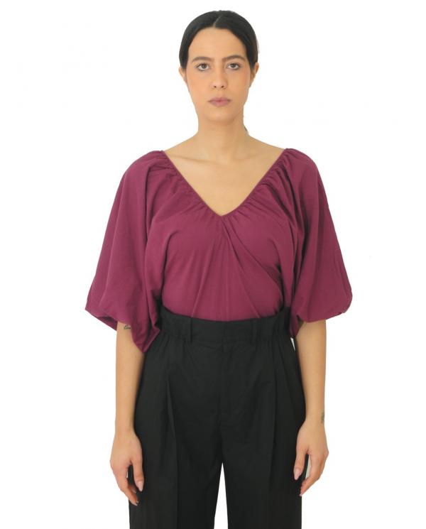 JUCCA T-shirt manica kimono rossa J3128002.1426