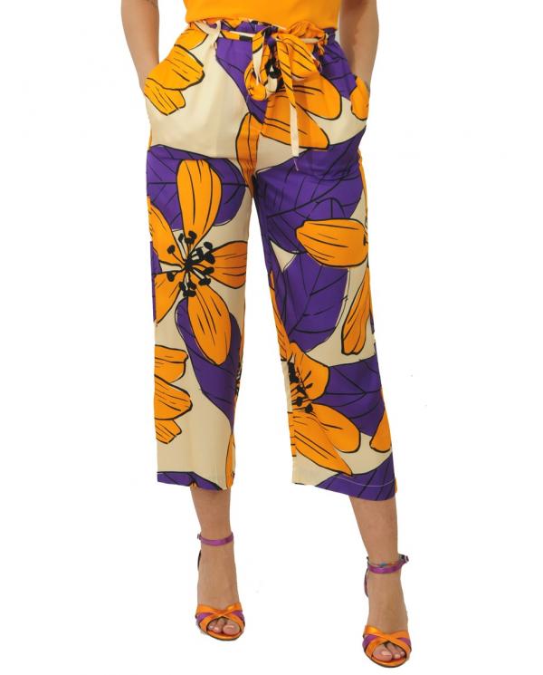 JUCCA Pantalone stampa floreale J3114030/F 1637