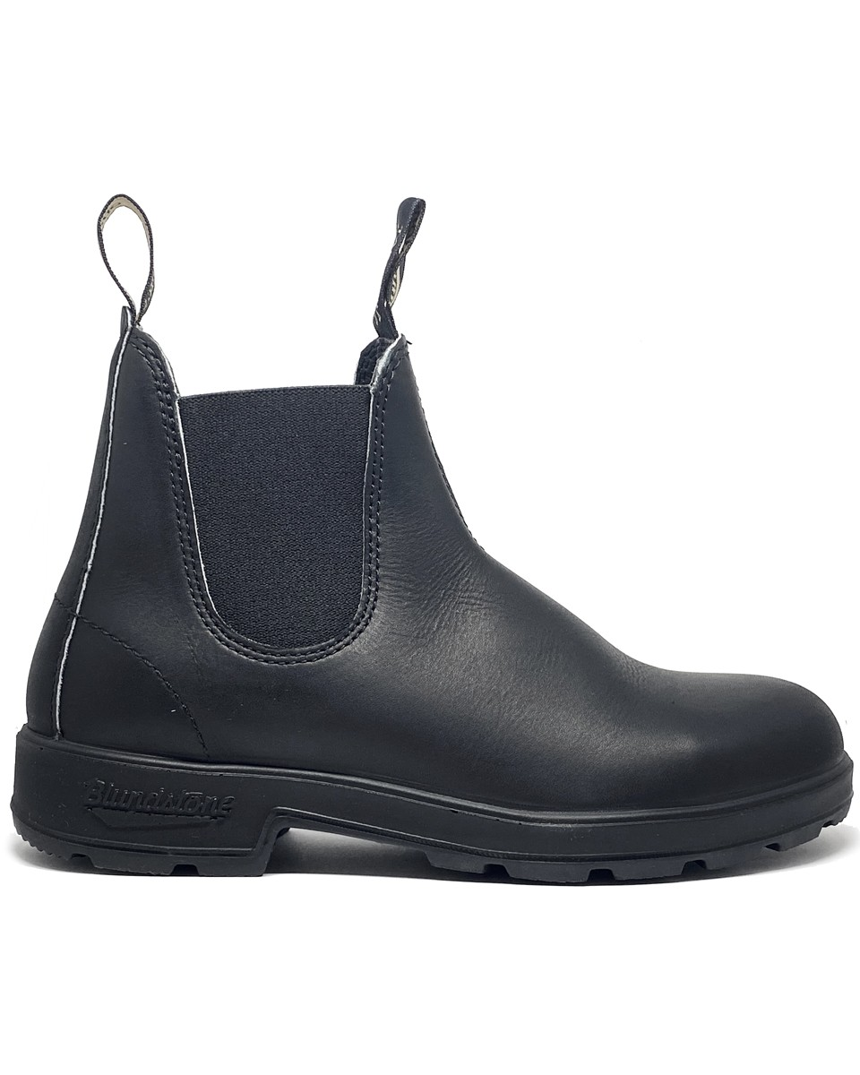 BLUNDSTONE BLACK LEATHER BLACK ELASTIC
