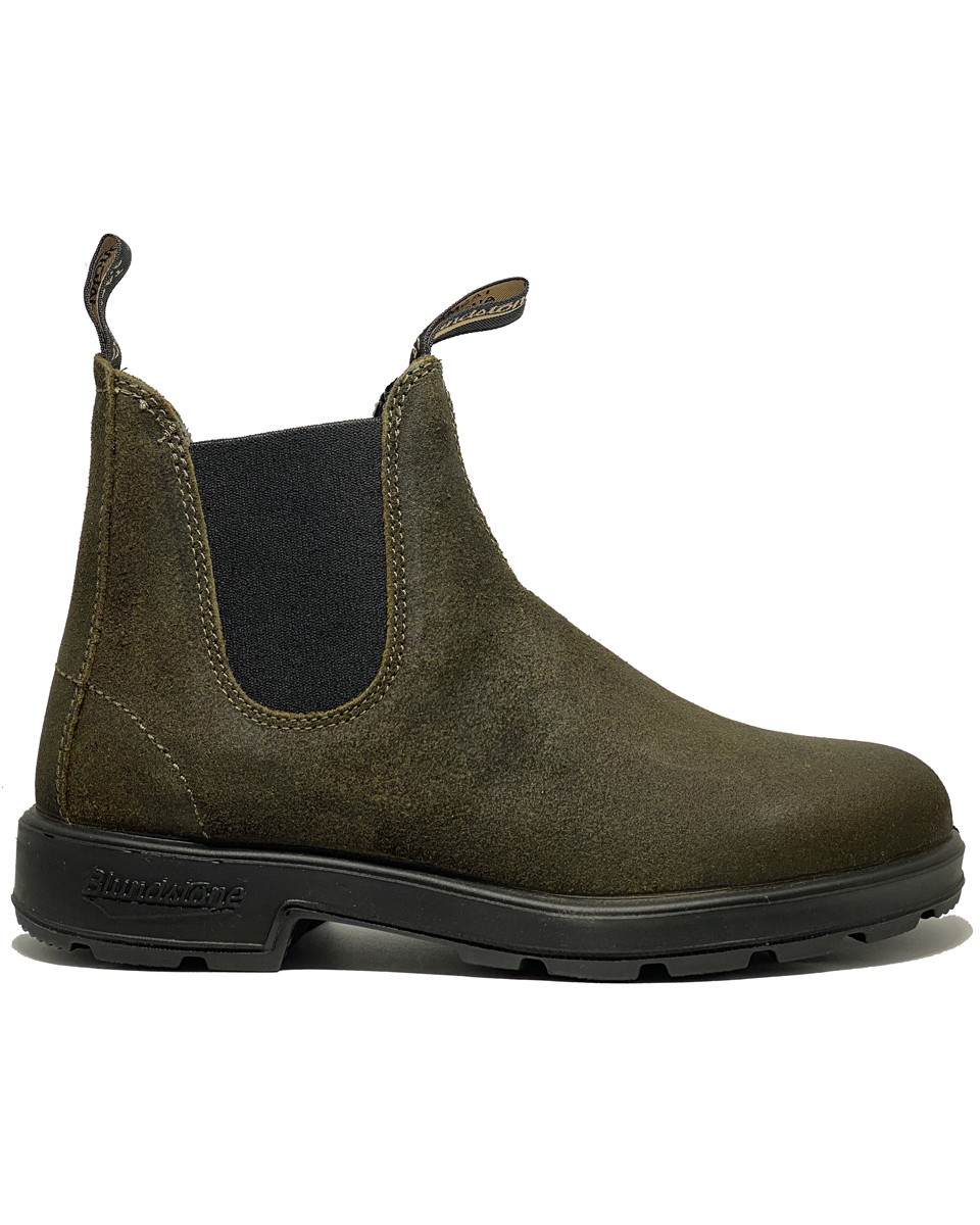 BLUNDSTONE 1615 waxed suede OLIVE
