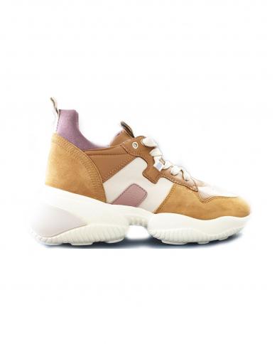 HOGAN Sneakers Interaction H525 allacciata beige GYW5250CW70P1Q.0PRN