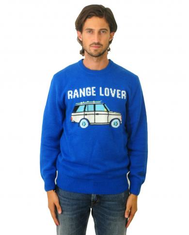 ST. BARTH Maglione con Range Lover Azzurra HER0001.CALO17