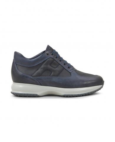 HOGAN Sneakers Interactive in pelle liscia e score U801(BLU)+U820(GALASSIA) HXM00N00E10O8P.000Y