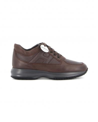 HOGAN Sneakers Interactive in pelle liscia e score Ebano HXM00N00E10O8P.268P