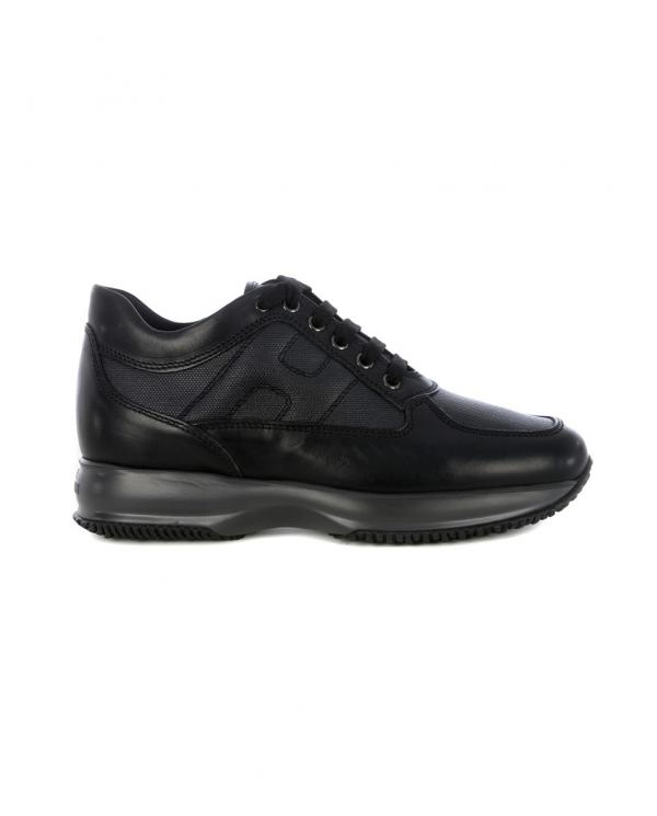 HOGAN Sneakers Interactive in pelle liscia e score NERO HXM00N00E10O8P.B999