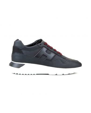 HOGAN Sneakers Interactive3 in pelle con suola a contrasto NERO HXM3710AM24OCA.B999