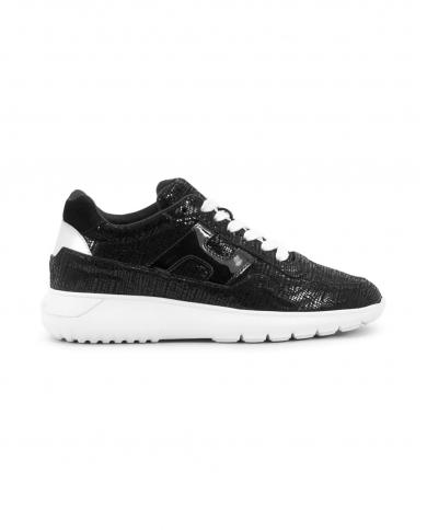 HOGAN Sneakers Interactive3 allacciata in pelle nero HXW3710AP20OTJ.0353