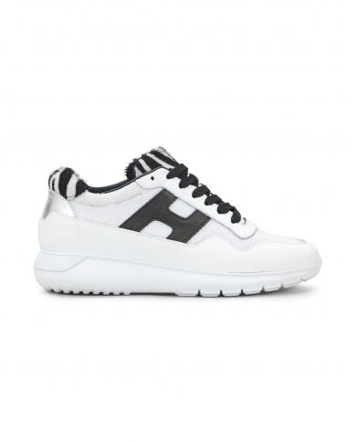 HOGAN Sneakers Interactive3 allacciata in pelle Bianco/nero HXW3710AP30O7R.016U