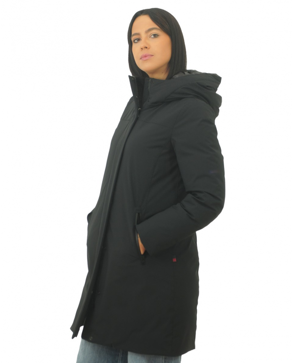 WOOLRICH Stretch Boulder Coat BLACK CFWWOU0277FRUT0102.100