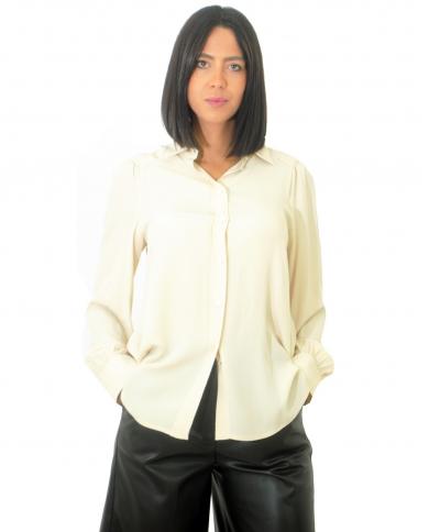 SEMI COUTURE Camicia in misto seta Meringa Y0WU01.A41-0