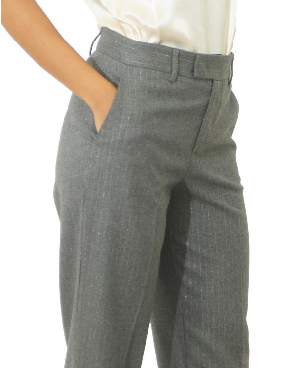 TWINSET Pantalone in misto lana GESSATO GRIGIO MELANGE LUREX A 202TT2172.05659