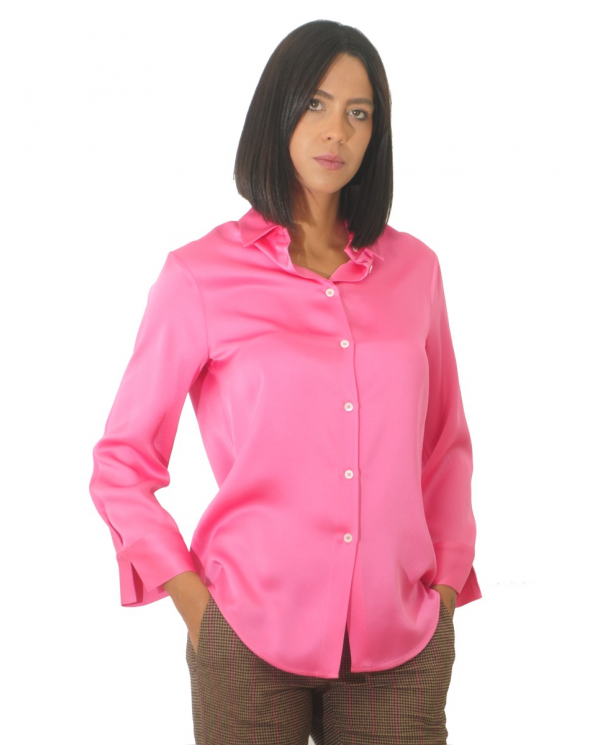 SEMI COUTURE Camicia envers satin Caramella Y0WM06.G22-0