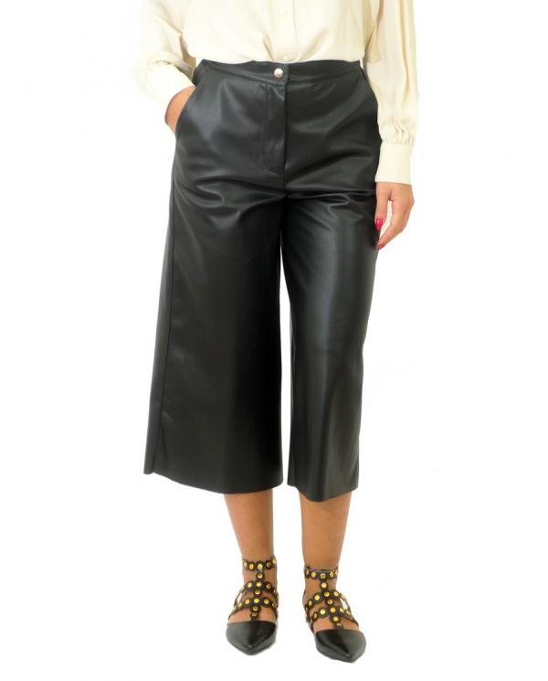 SEMI COUTURE Pantalone ecopelle Nero Y0WT02.Y69-0