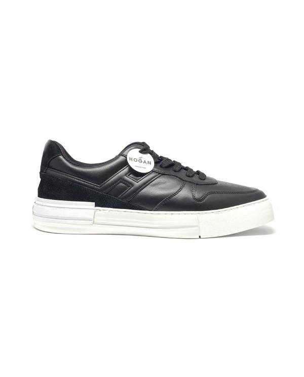 HOGAN Sneakers Rebel in pelle NERO HXM5260DD20IHT.B999