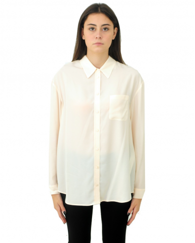 TWINSET Camicia in misto seta BIANCO PANNA 202TP2426.03363