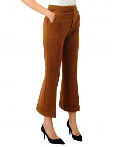 JUCCA Pantalone zampetta con risvolto CROCCANTE J3214000.1675
