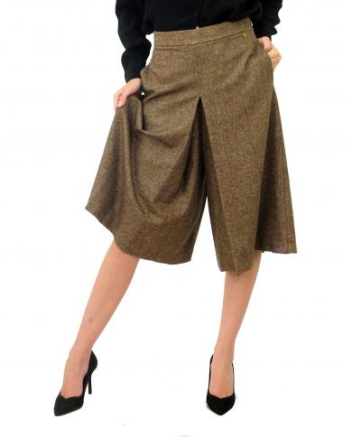TWINSET Gonna pantalone SALE PEPE MARRONE/NEVE 202TP2386.05369