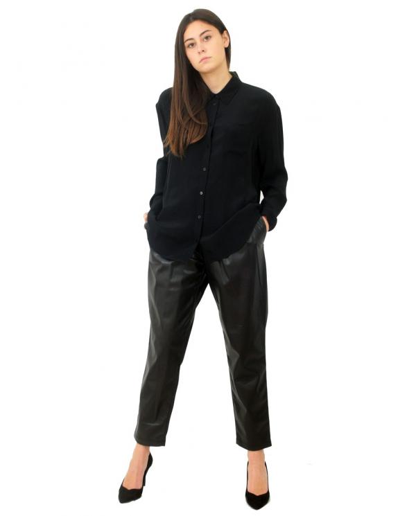 TWINSET Camicia in misto seta NERO 202TP2426.00006