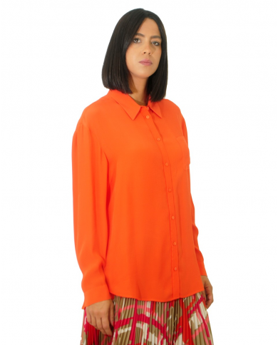 TWINSET Camicia in misto seta ARANCIO SCURO 202TP2426.05377