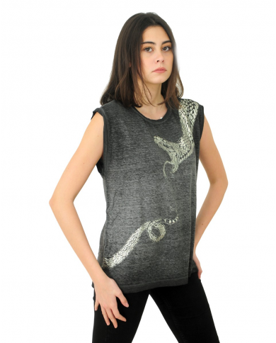 8PM T-shirt con stampa serpente GRAFITE D8PM01H140.055