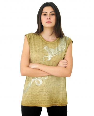 8PM T-shirt con stampa serpente Oliva D8PM01H140.070