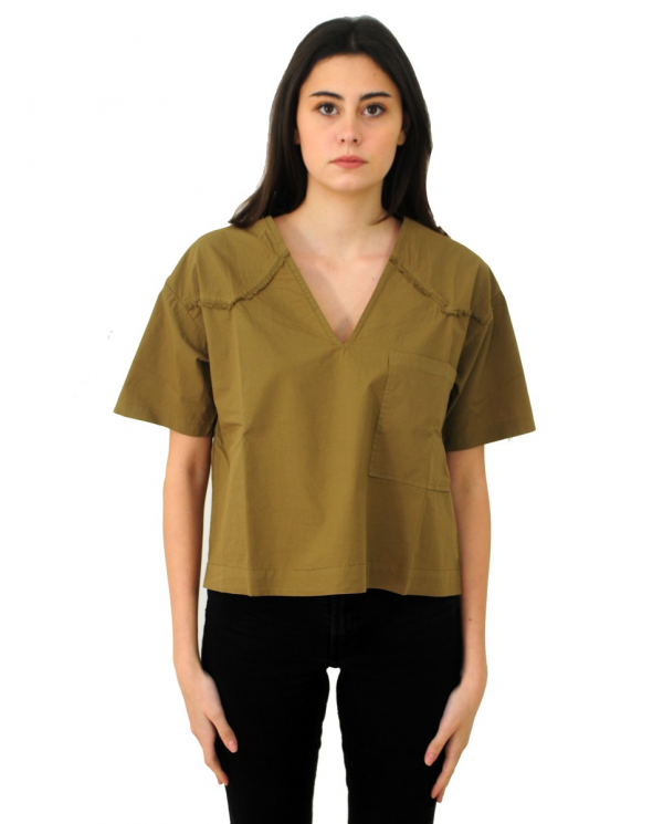 8PM T-shirt over in cotone Oliva D8PM01M54.070